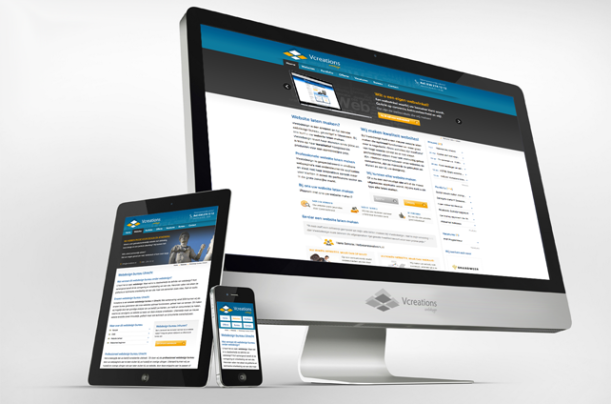 Responsive website van internetbureau Vcreations