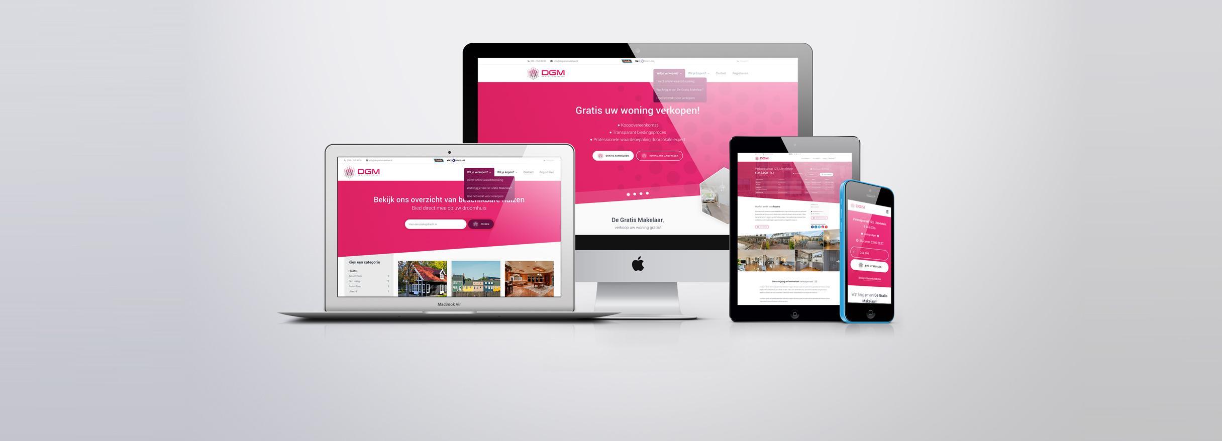 Website voor makelaar
