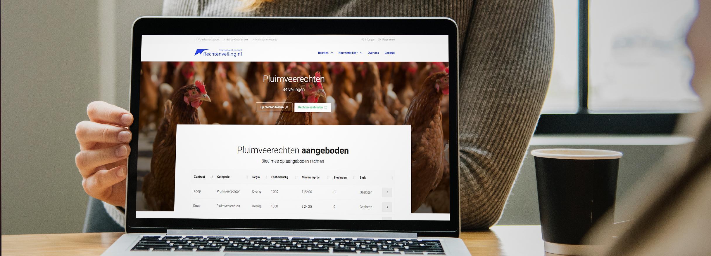 Website met veiling software