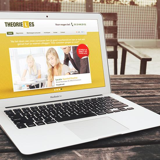 Rijschool website Theorie-Les.nu