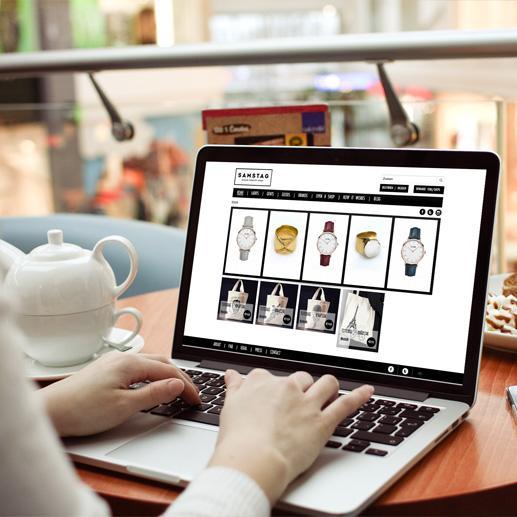 Handel website Samstag