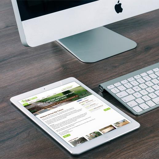Website voor tuinman