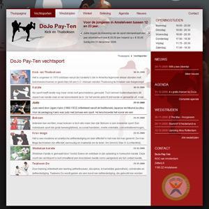Sportschool website Dojo Pay-Ten