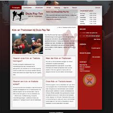 Sportschool website Dojo Pay-Ten
