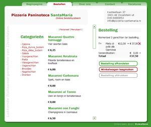 Webwinkel: Pizzeria-santamaria.nl