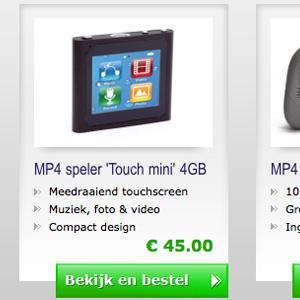 Landingspagina's mp4winkel.nl