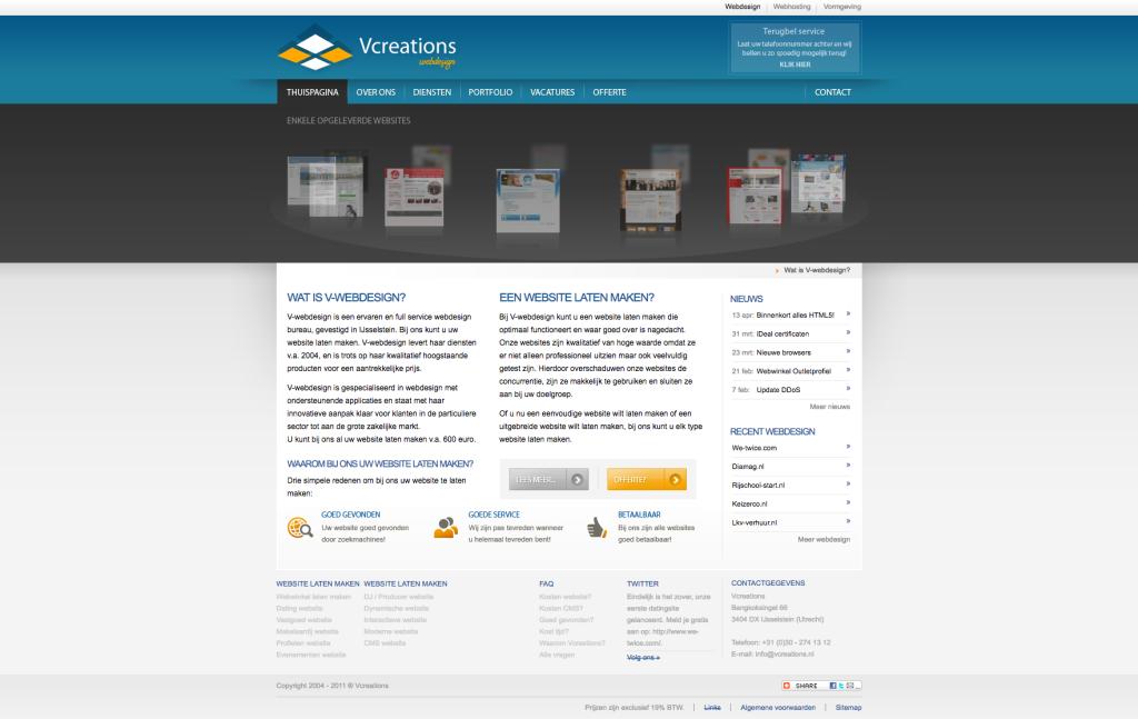 Onze website uit 2010
