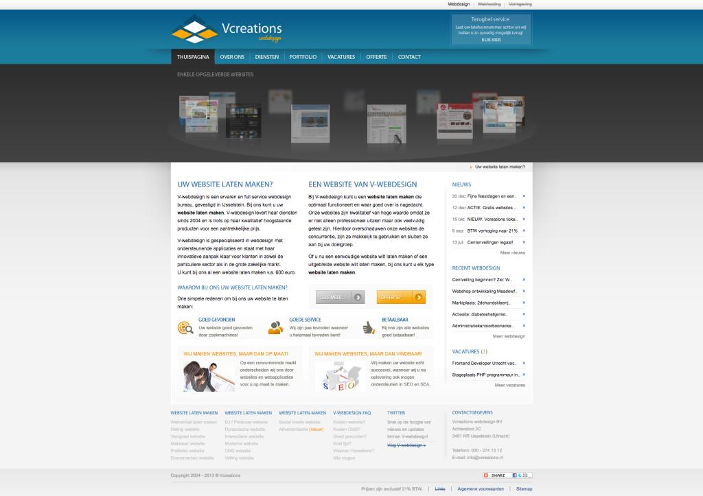Onze website uit 2011