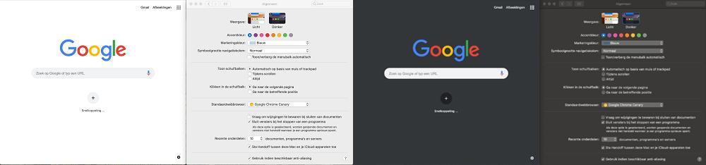 Dark mode Google