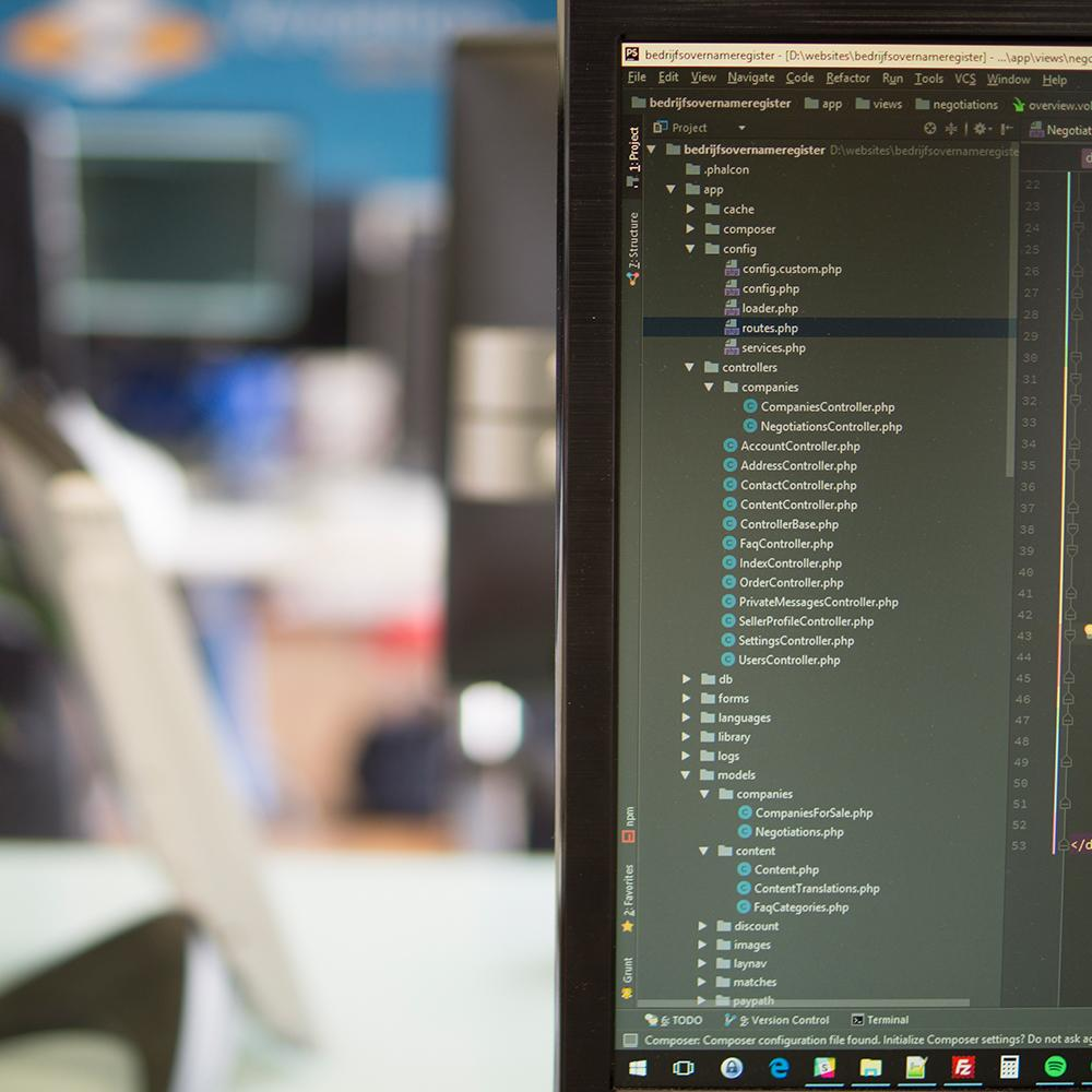 Datbase website maken